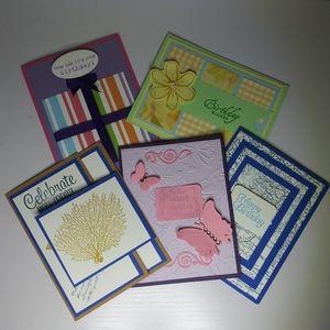 Birthday Cards - 5 pack - Handmade